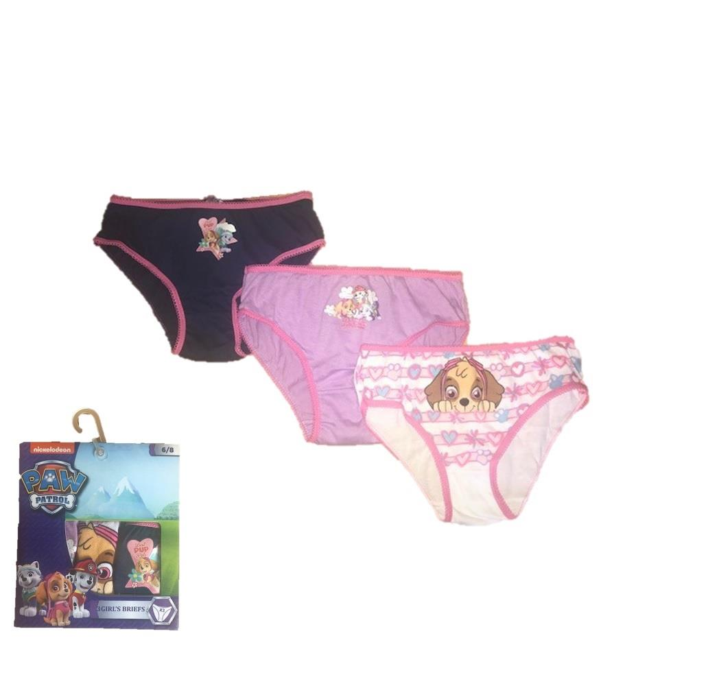 Girls Paw Patrol Character Pants Knickers 3 PACK