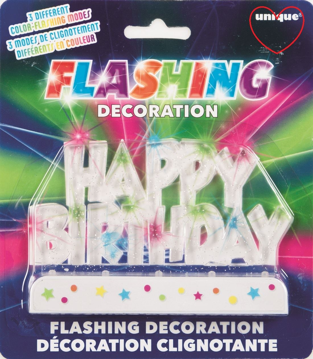 Flashing Number Amp Happy Birthday Candle Holder
