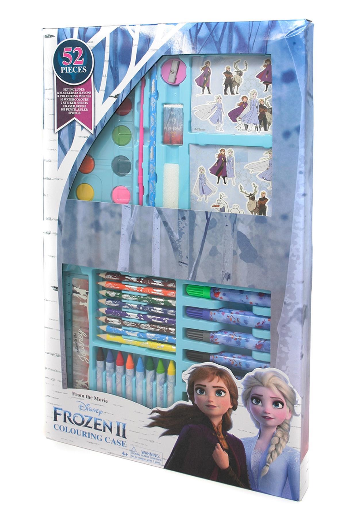 thumbnail 6 - Disney Frozen 2 Elsa Stationary Gift Set Case Chest Pencil Case Stocking Filler