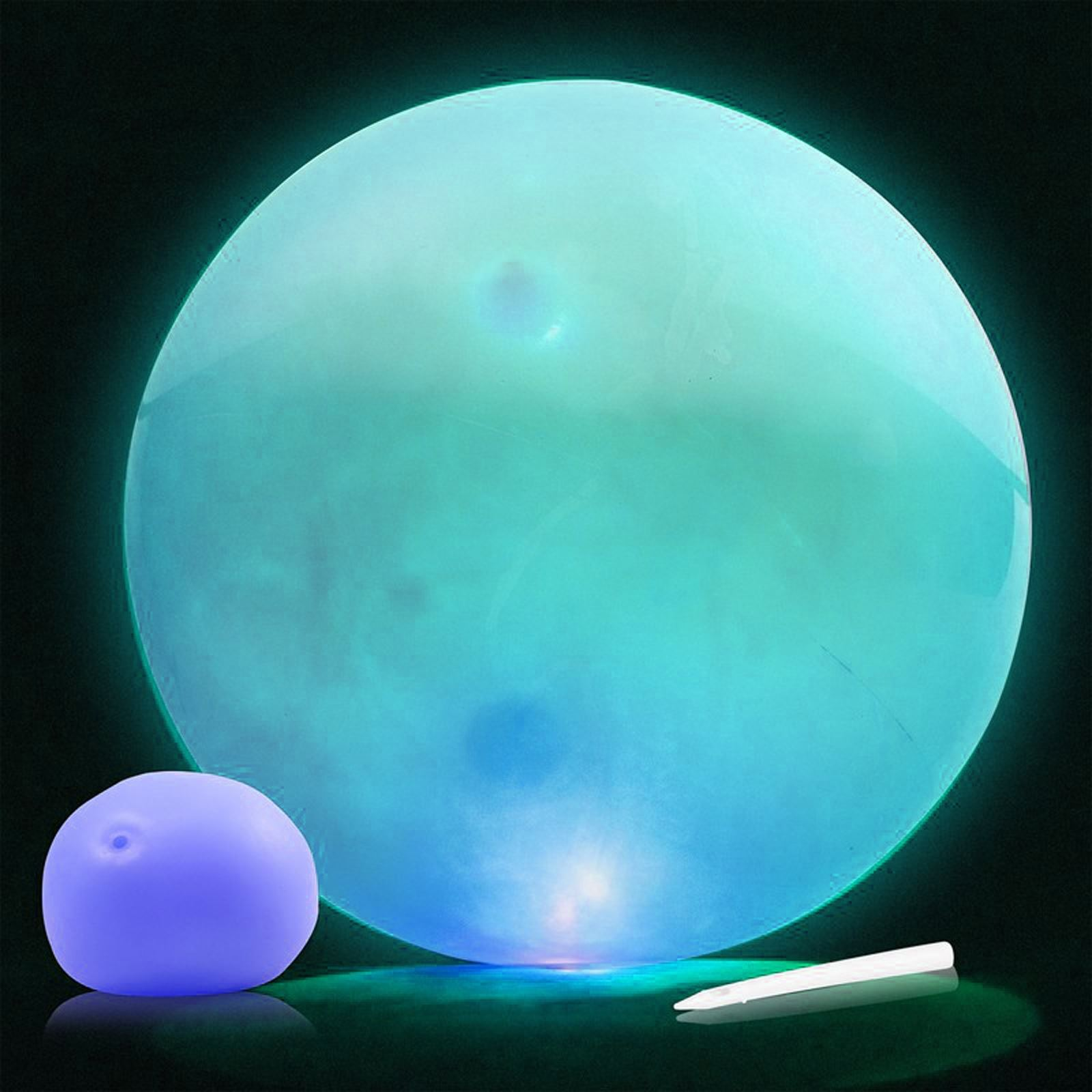 Balloon Ball Flashing Toy Blow Up Sensory Fiddle Fid Stress