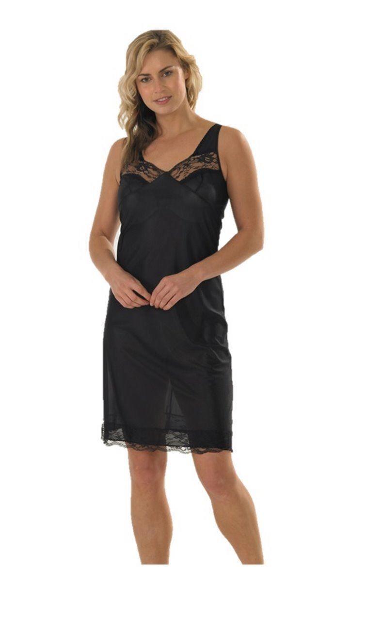 dd34905b11eb Ladies Marlon Petticoat Under Dress Full Slip Build up Shoulder ...