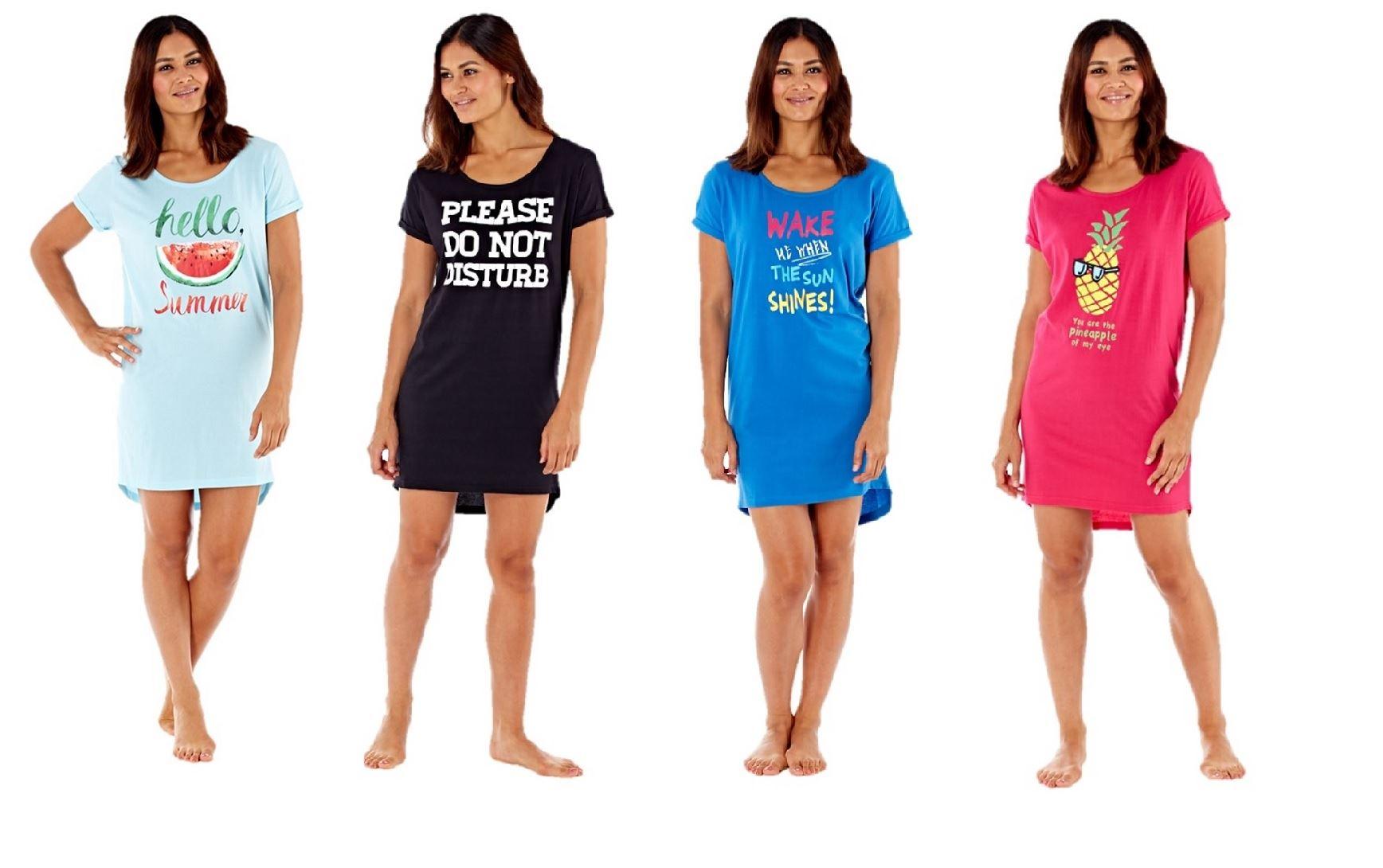 Details about Ladies Womens Nightie Nightdress Short Sleeve T-Shirt  Nightshirt Slogan 3d59ebc42