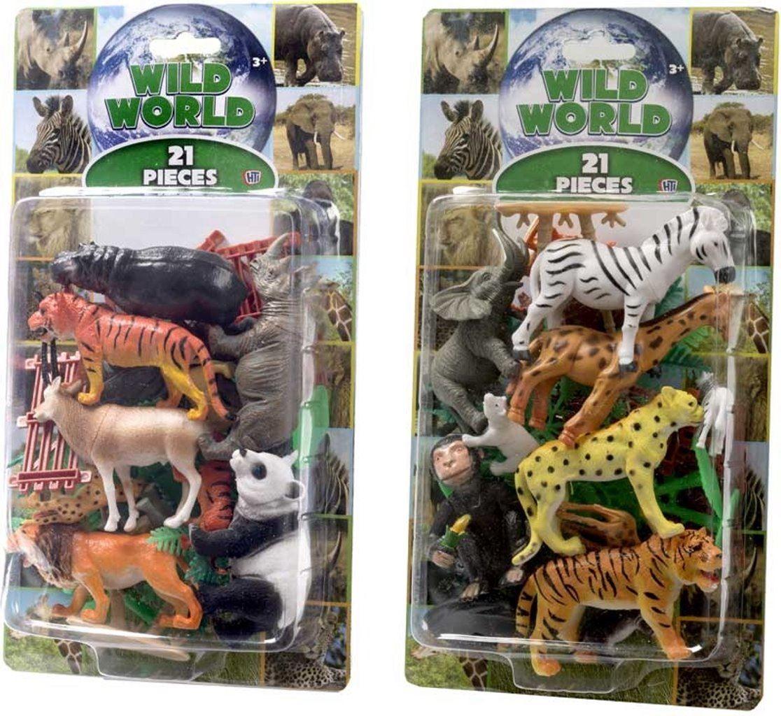 Animaux En Plastique Jouet détails sur sauvage animaux plastique figurines modèle zoo jouets 21 pièces  cadeau