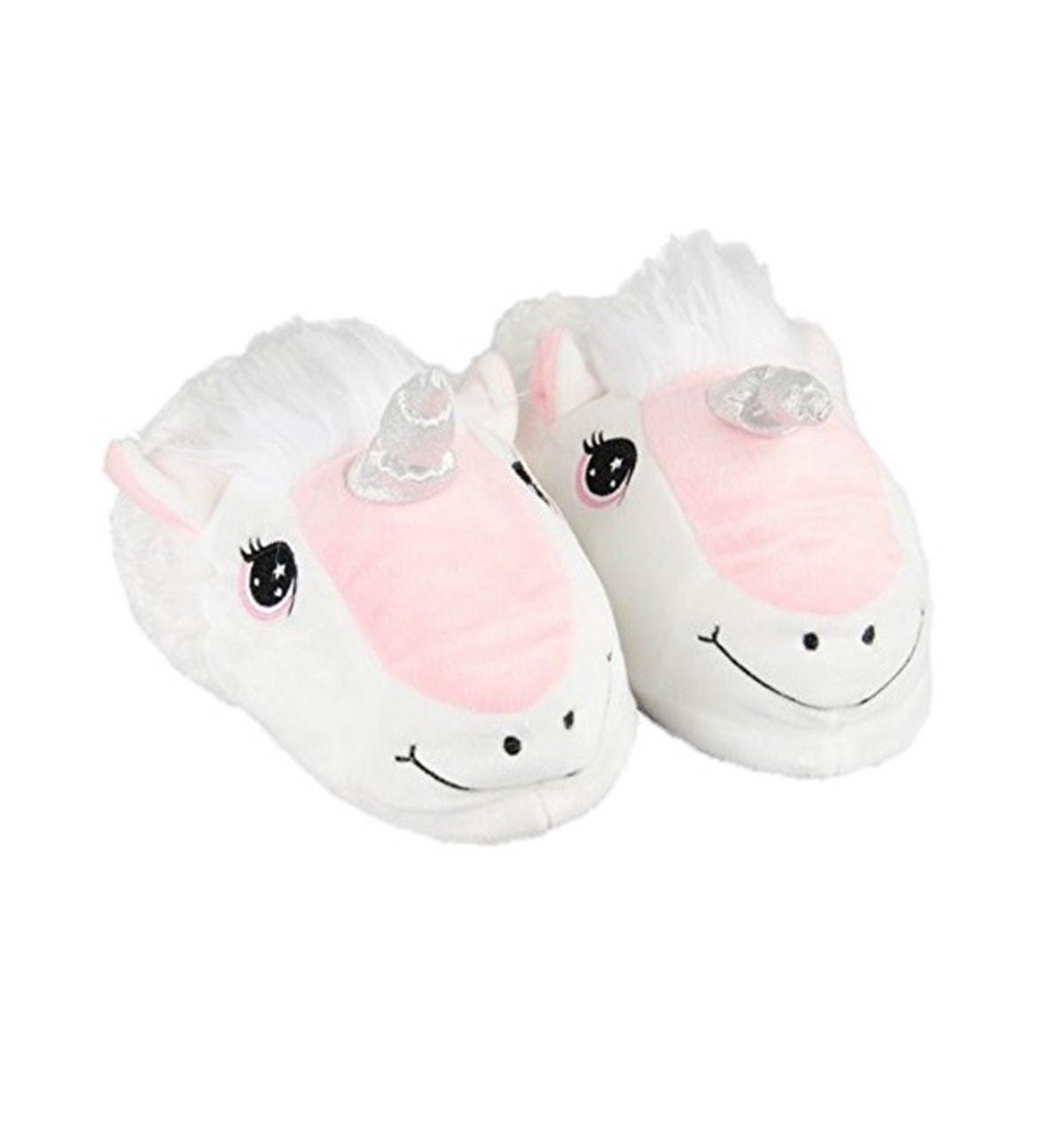 Donna Ragazze Unicorn Pantofole Peluche Morbido