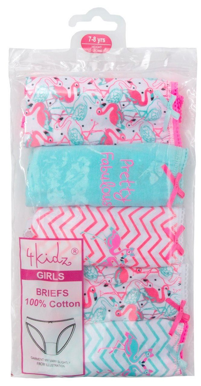 Girls-Childrens-Briefs-Underwear-Cotton-5-pack-Knickers-Panties thumbnail 7