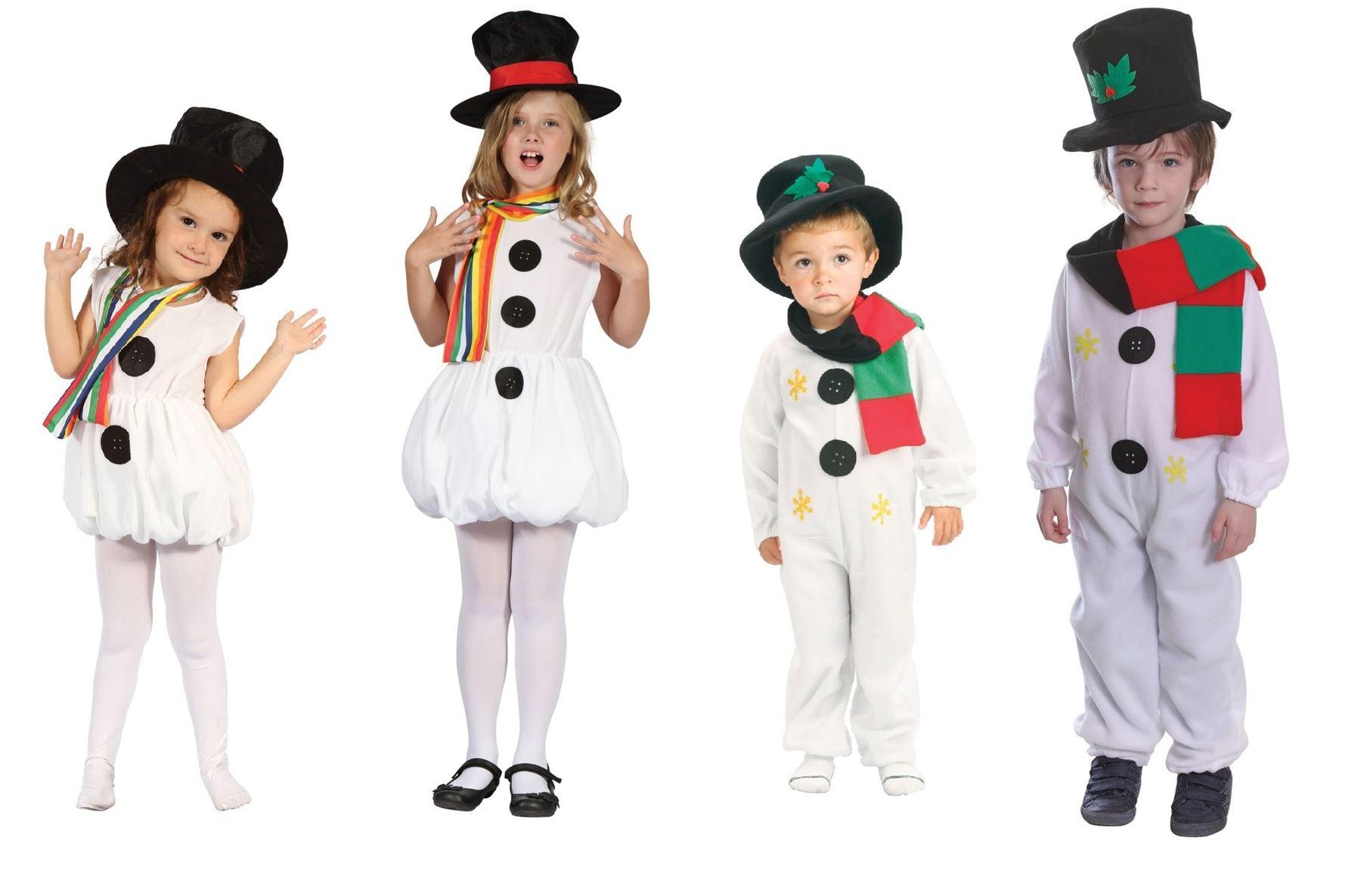 kinder snowgirl schneemann weihnachten outfit kost m. Black Bedroom Furniture Sets. Home Design Ideas
