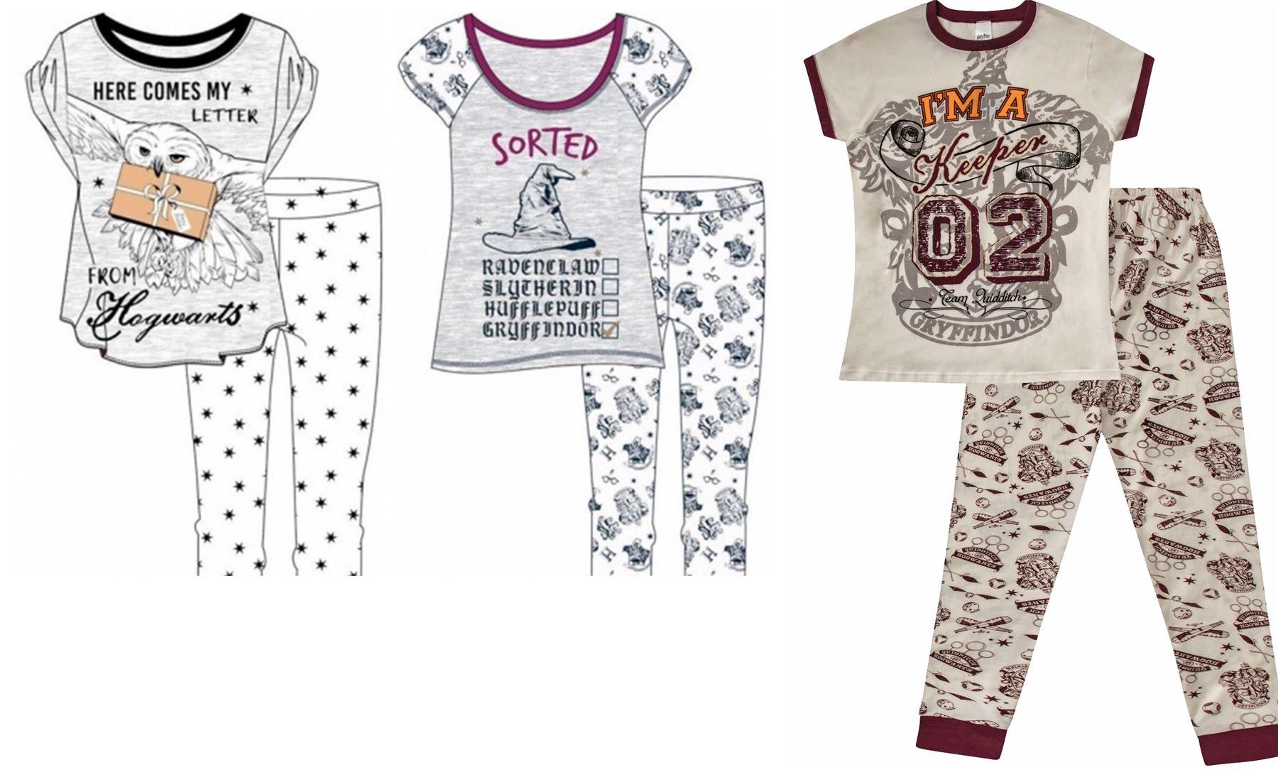 538bccb254 Ladies Harry Potter Hogwarts Pyjamas Pajamas Long Nightwear