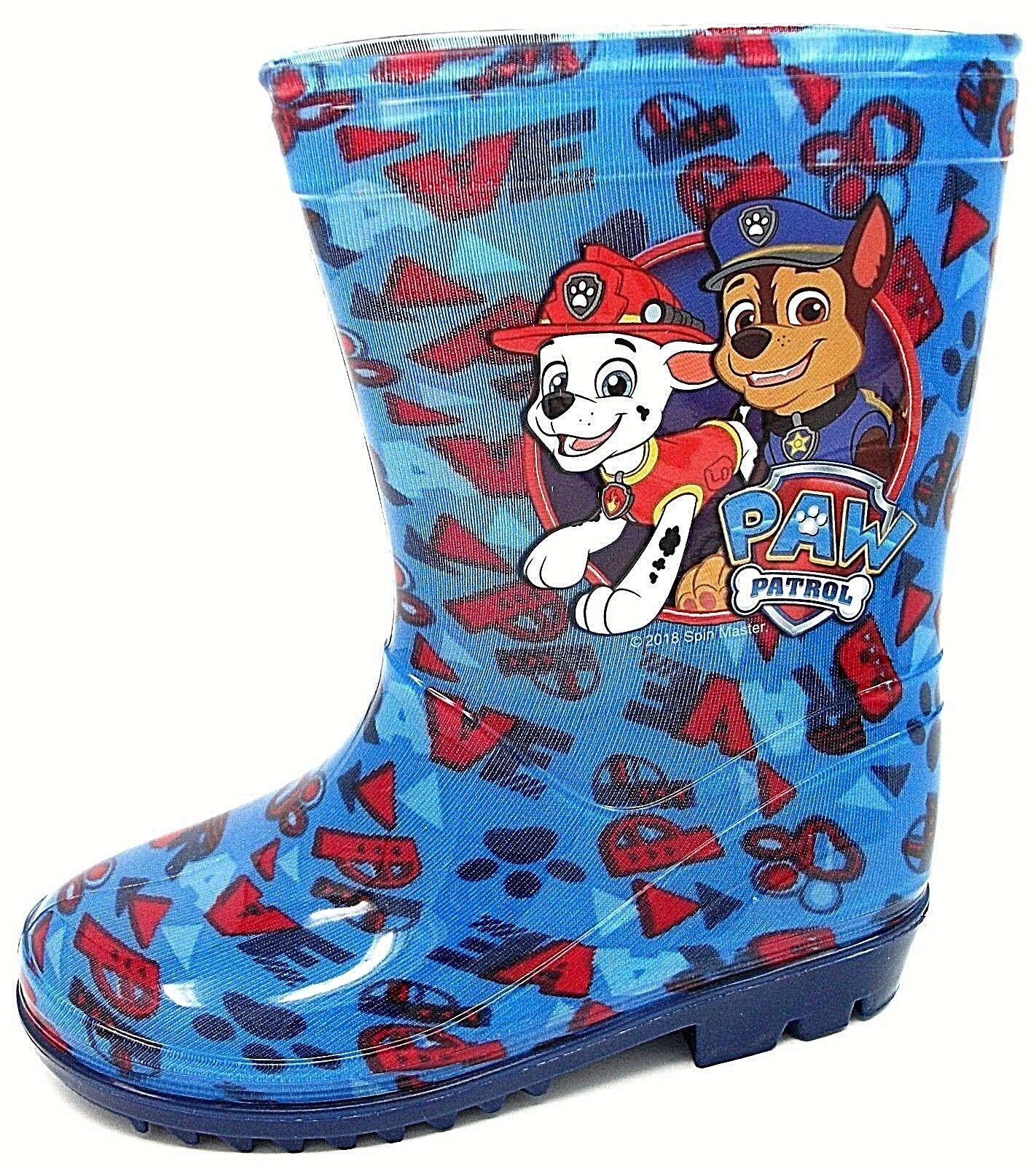 Paw Patrol Boys Code Paw Slip On Wellington Boots UK Sizes Child 5-10