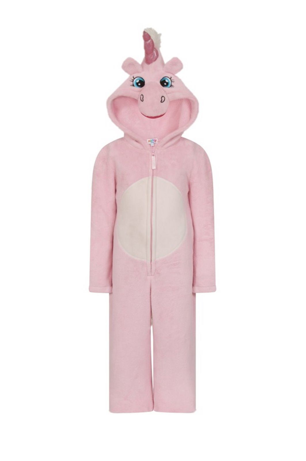 Childrens-Fleece-Hooded-All-In-One-Piece-Jumpsuit-Pyjamas-Pajama-Age-3-13 thumbnail 6
