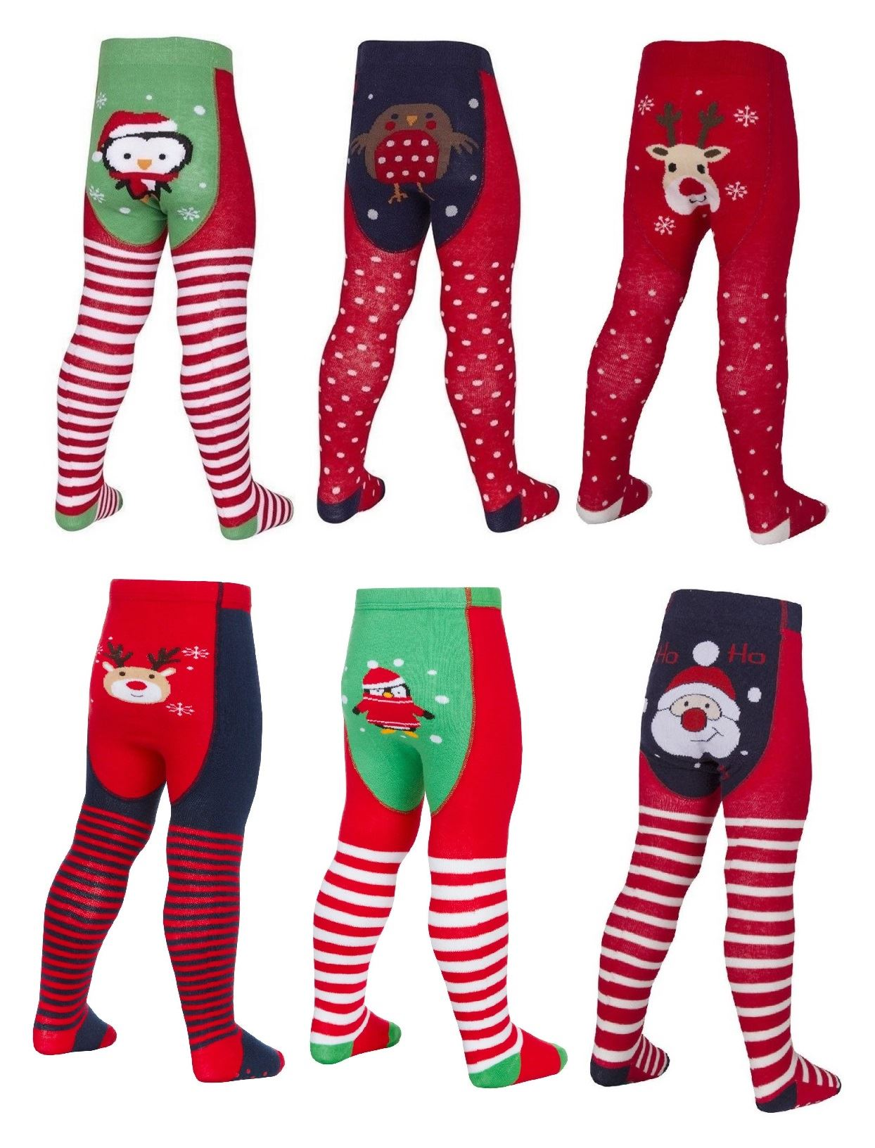 Baby Girl Green Christmas Tights with Beautiful Red Lace Bow 6 Sizes for Preemie Newborn and Toddlers up to 24 Months.