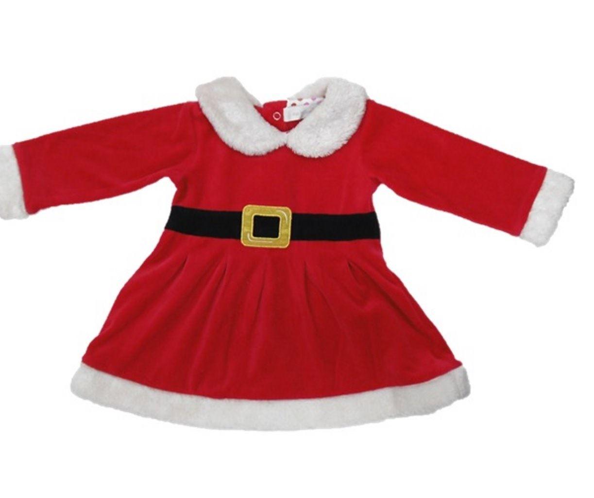 Newborn baby santa dress christmas xmas outfit costume
