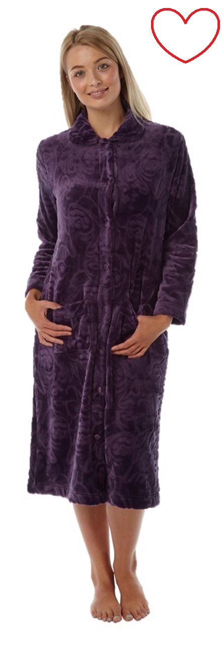 884acb8904fa Ladies dressing gown bathrobe warm soft plus size 12 14 16 18 20 22 ...
