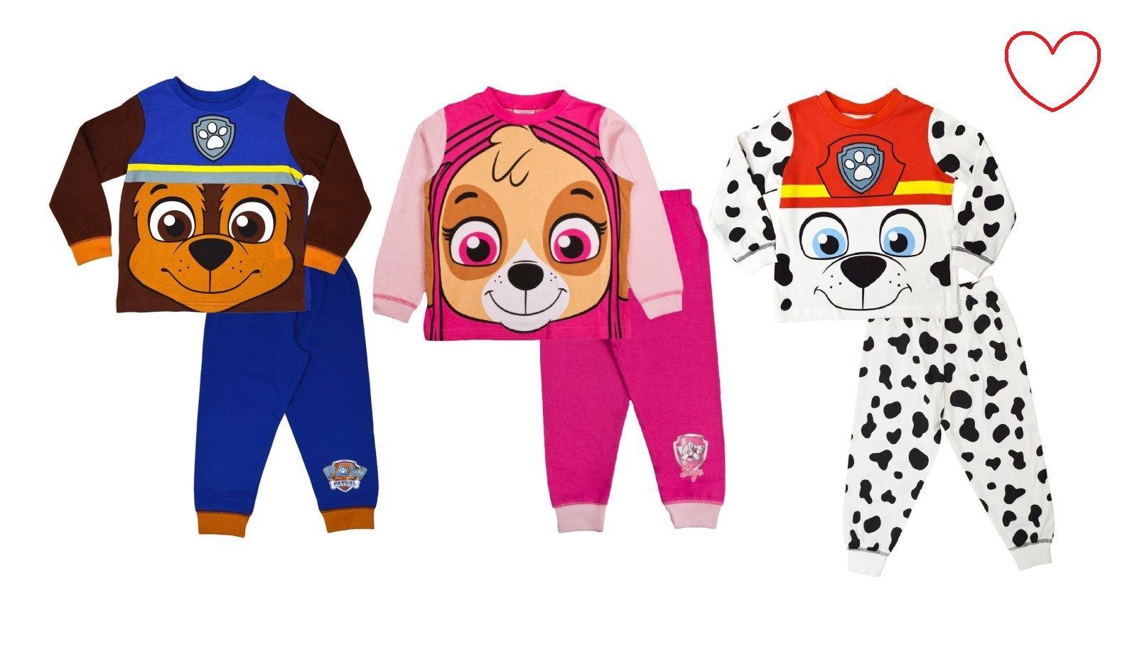 c919b0b9b062 Paw Patrol Boys Girls Pyjamas Toddler Character Kids