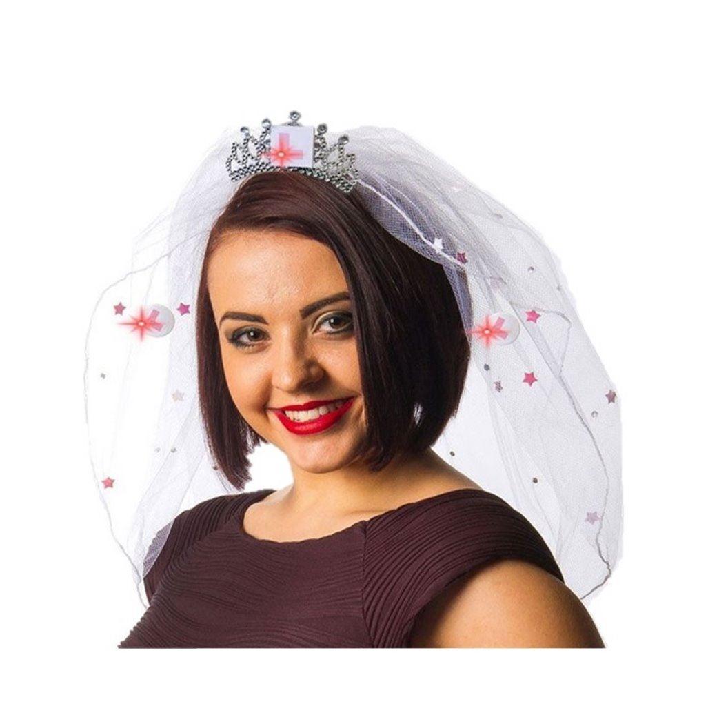 Hen Night Party Supplies Flashing Tiara Bride to Be Game Hair Clips Headpiece