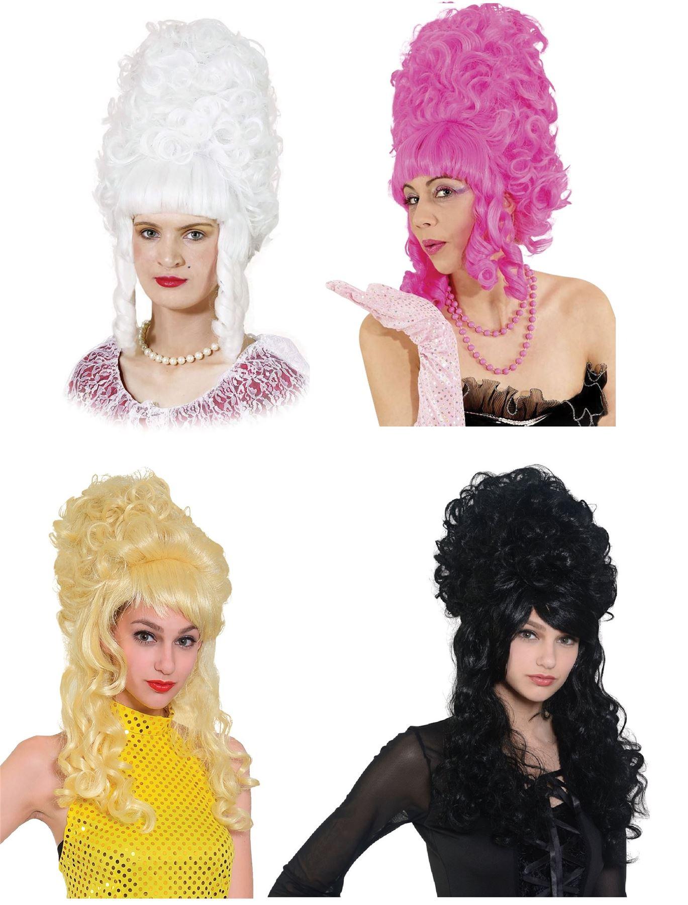 Ladies Wigs Beehive Panto Fancy Dress Accessory