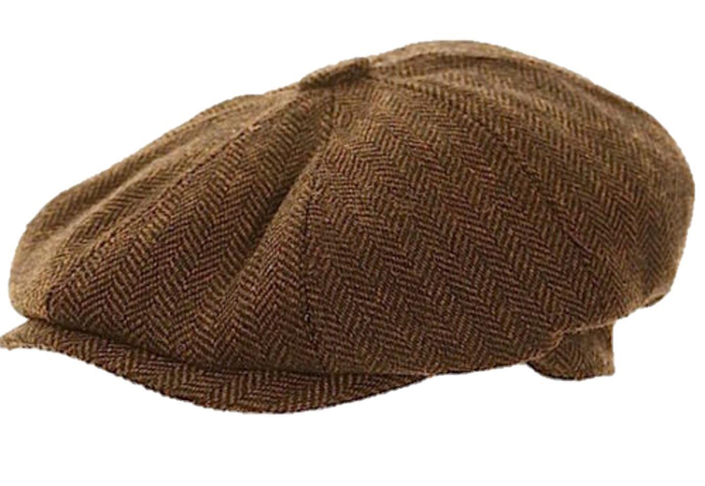 tweed cap hat gatsby baker boy flat herringbone newsboy