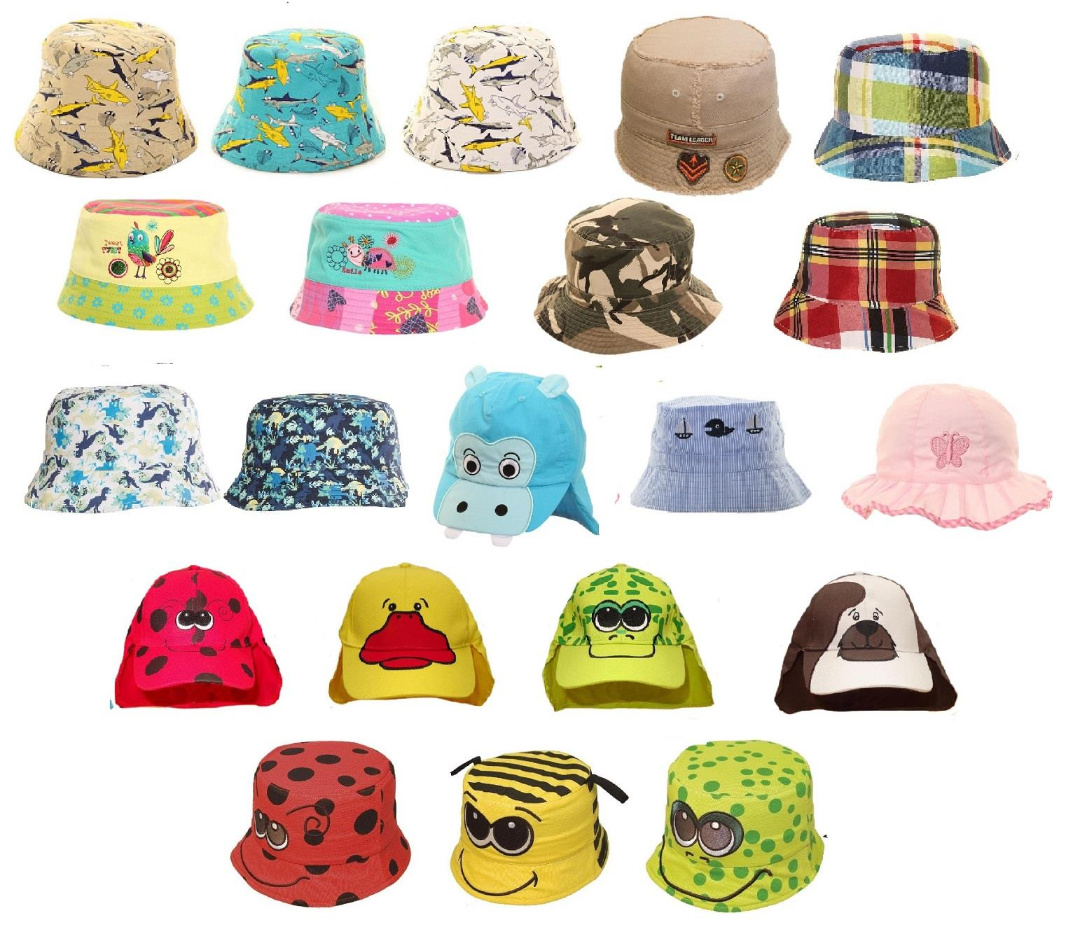 Boys Girls Summer Hats Beach Holiday Sun Protection Children/'s