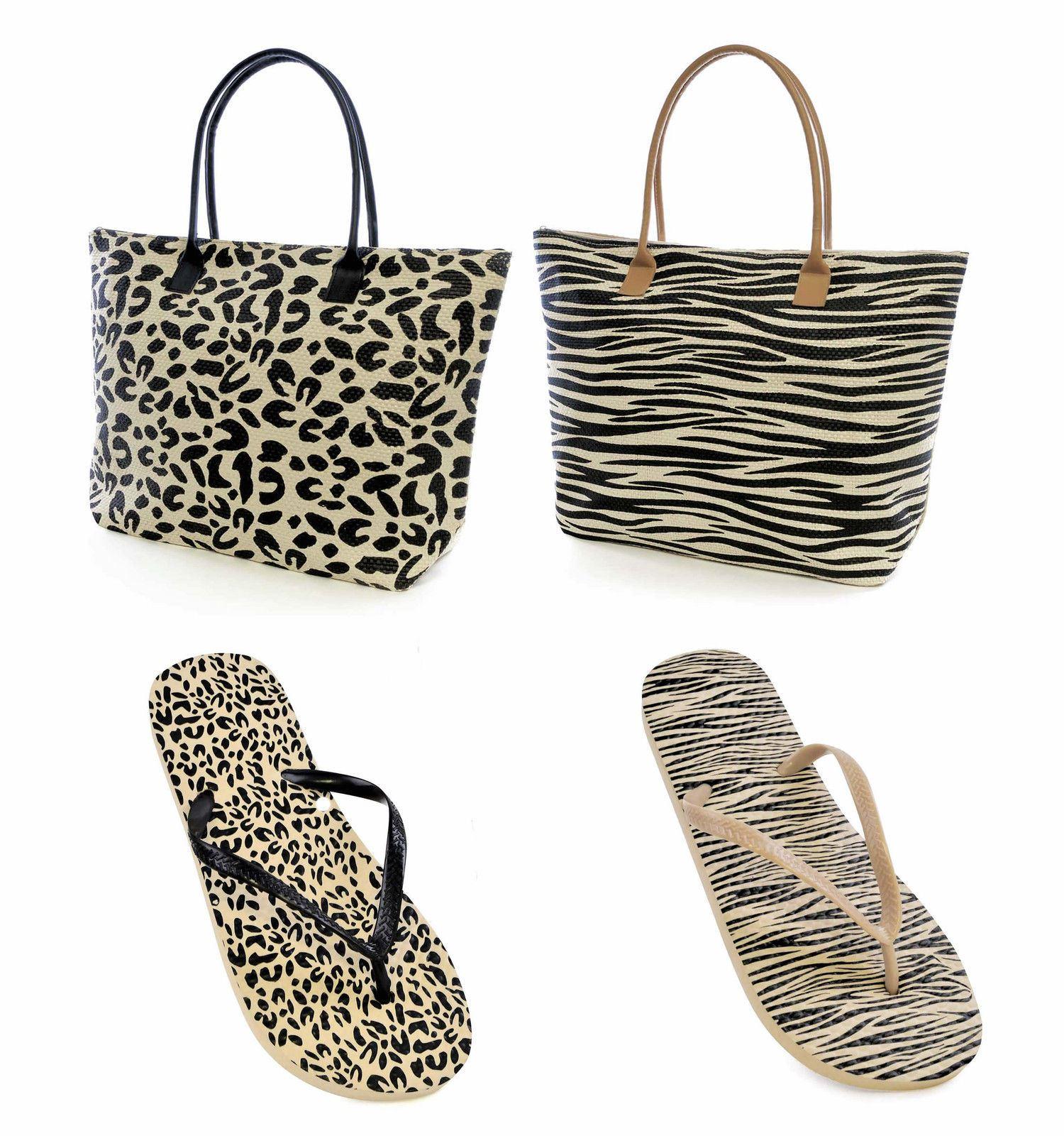 0a305bc721d ladies girl flip flops sandal matching beach bag holiday