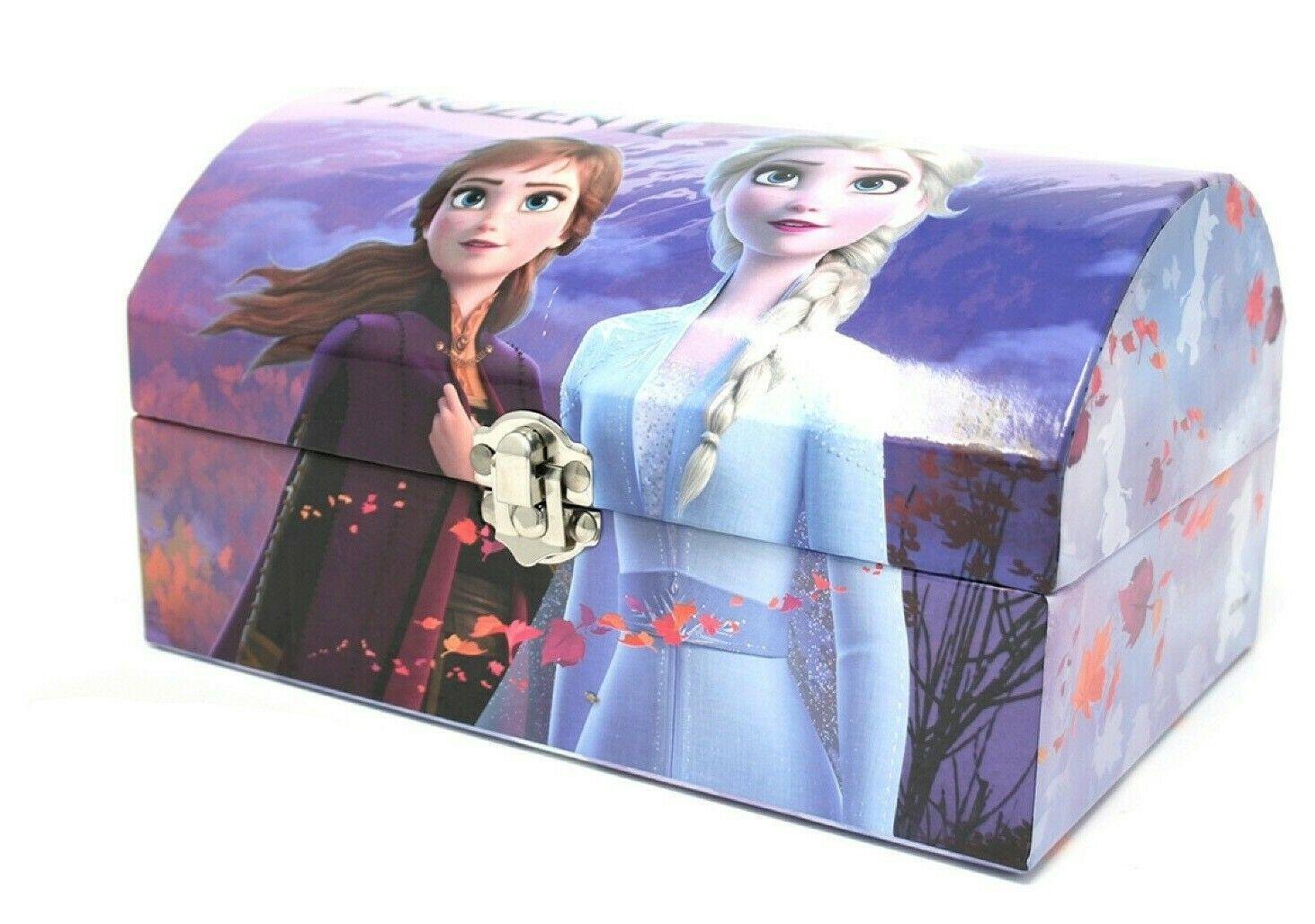 thumbnail 3 - Disney Frozen 2 Elsa Stationary Gift Set Case Chest Pencil Case Stocking Filler