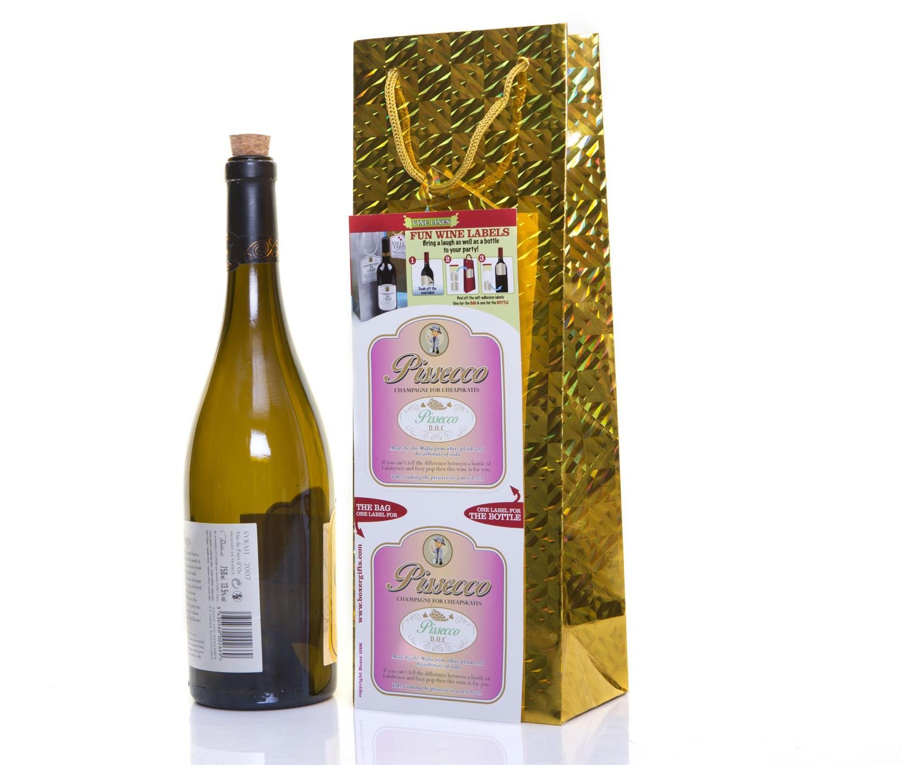 Bolsa-para-botella-de-vino-Novedad-Etiqueta-Divertido-Broma-Navidad miniatura 14