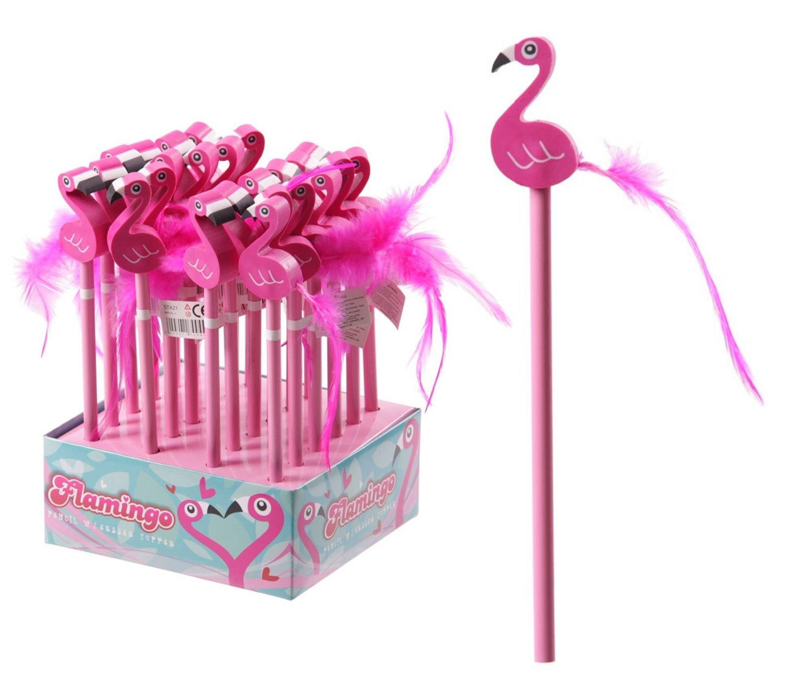 Novelty Pink Flamingo Pencil With Eraser Kids Girls School Gift Party Bag Filler