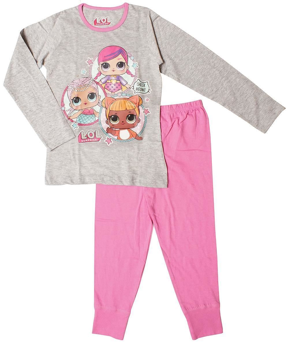 Girls LOL Surprise Pjs Kids Nightwear Pyjamas Set Character Gift