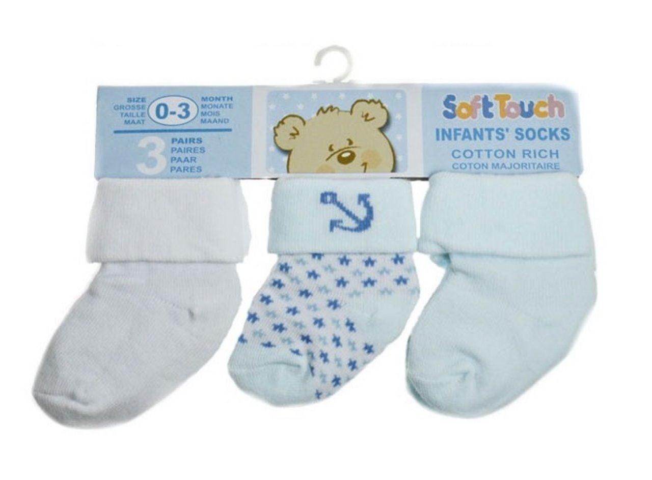 Lot 12 Pair Newborn Infant Baby BOY Socks Cotton Spandex  Ankle Crew 0-12 Months