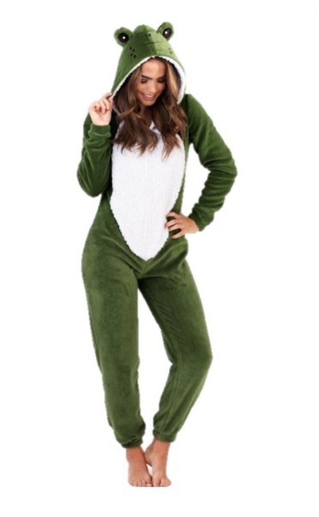 damen 3d onezie strampler fleece schlafanzug kost m overall onezee ebay. Black Bedroom Furniture Sets. Home Design Ideas