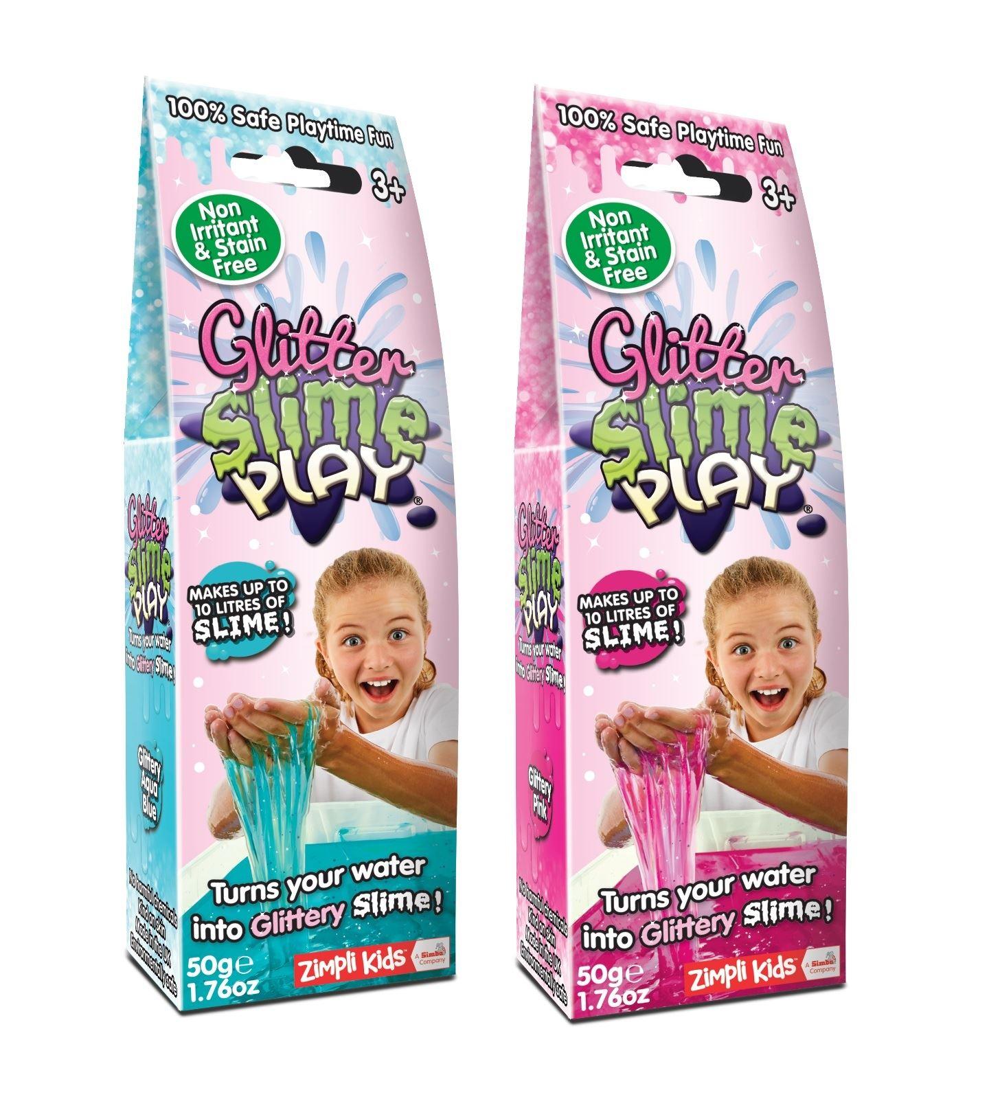 Zimpli Enfants Baff Gamme Vert Slime Play 20g Feuille Pack 4 Litres de