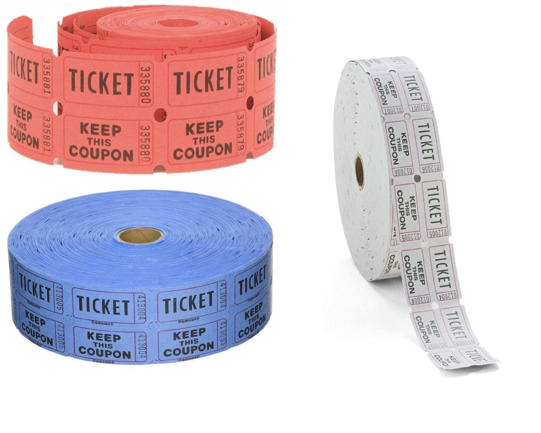 Ticket Rolls Roll Raffle Carnival Event