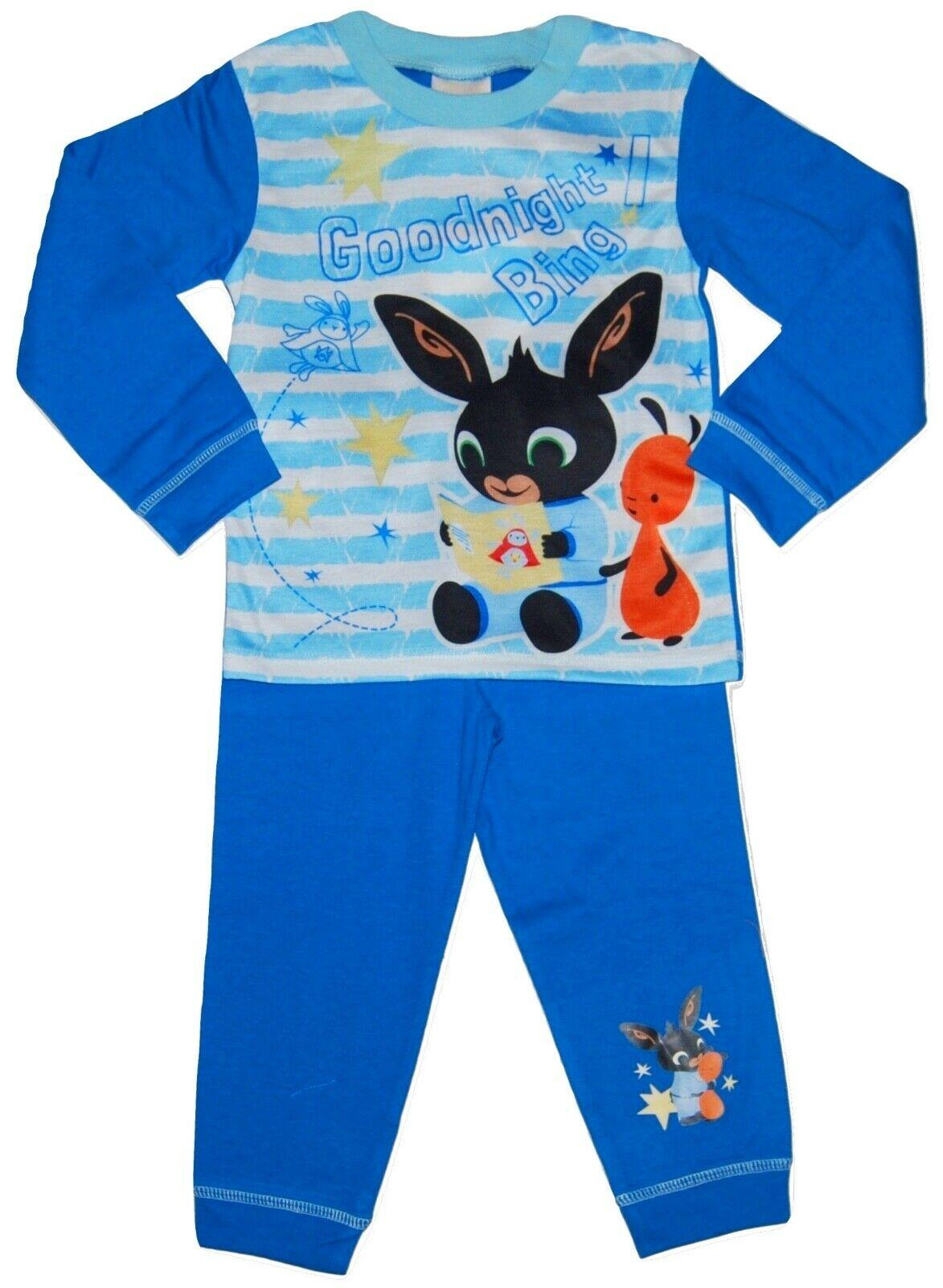 Toddler Bing Pjs CBeebies Goodnight Blue Boys Pyjamas Character