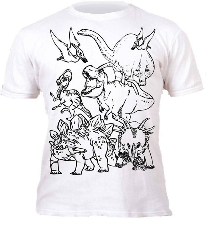 Colour-your-own-t-shirt-unicorn-mermaid-dinosaur-novelty-gift thumbnail 4
