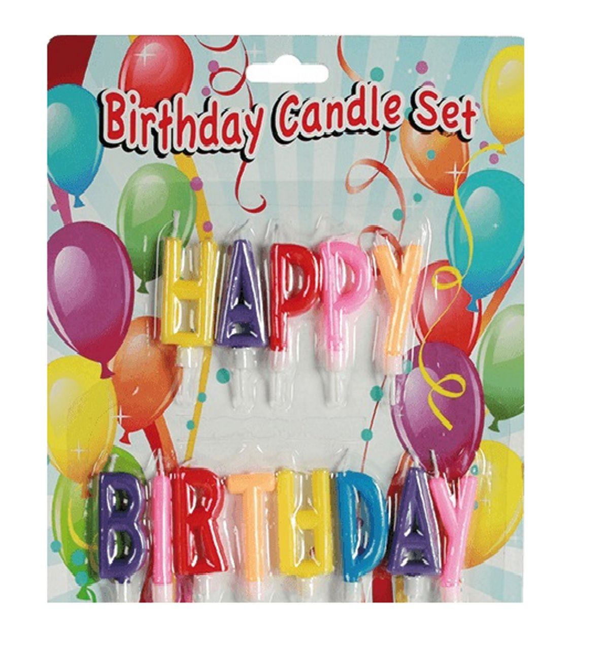 Details About Happy Birthday Candle Cake Set Multi Colour Letters Party Topper Decoration