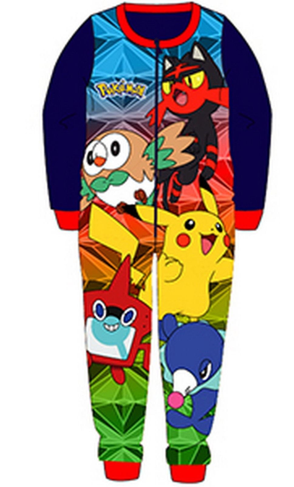 d1b6f14baf Ragazzi Pile Personaggio Pokemon Tutto in Intero Bambini ...