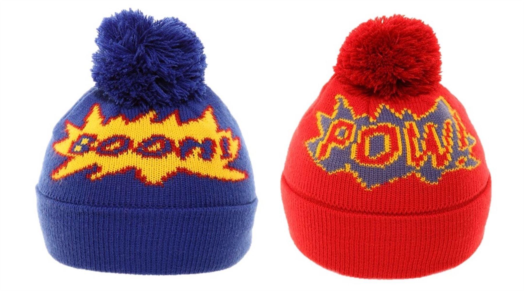 Boys Childrens Winter Hat Novelty Beanie Warm Comfy Comic  c84ba2e2962