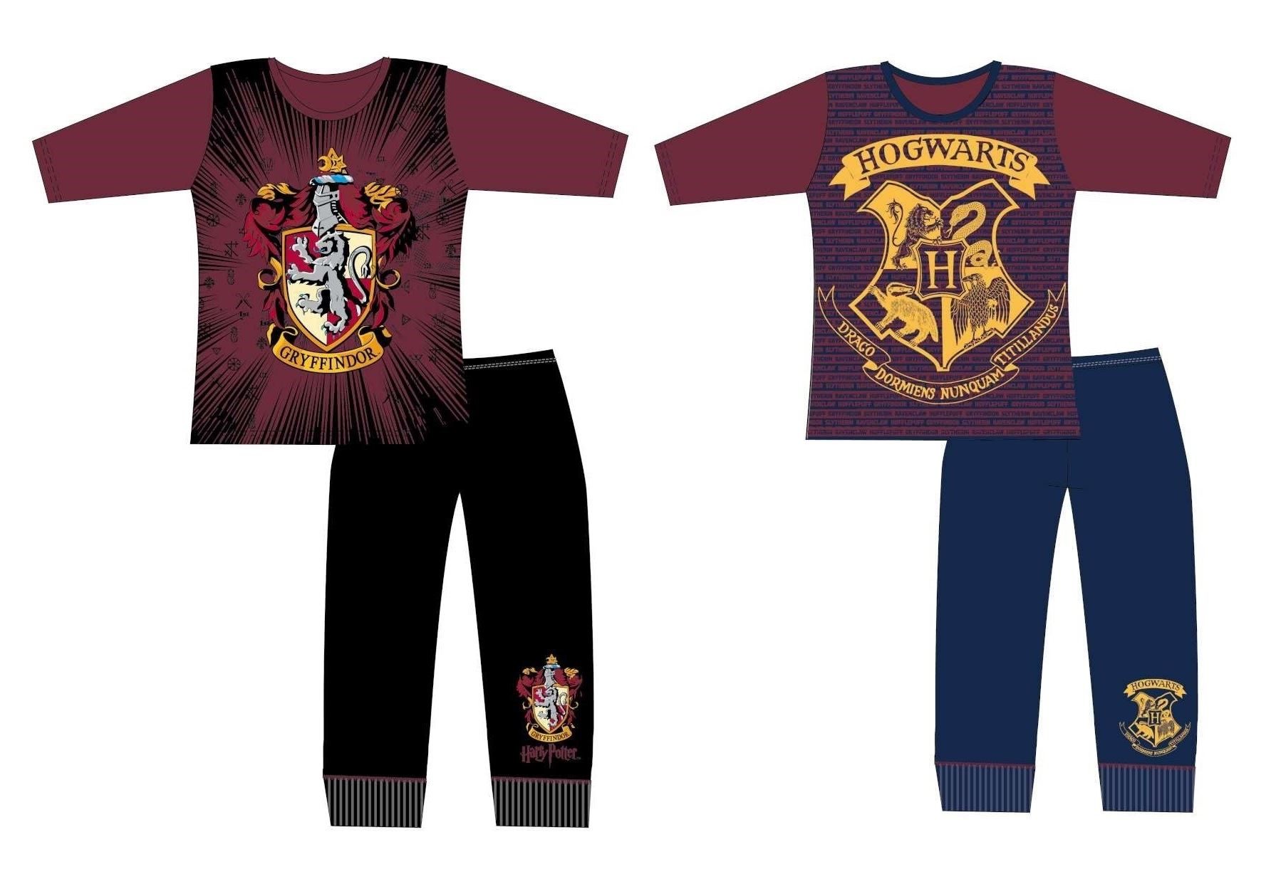 Official Boys Harry Potter Pyjamas Pajamas Pjs Nightwear Kids Children 6 8 10 12
