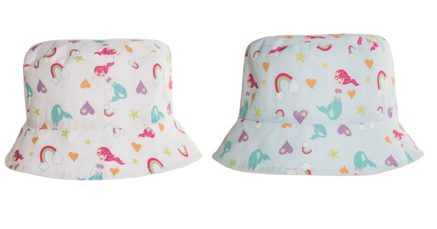 Girls Mermaid Bucket Hat Summer Sun Protection Beach