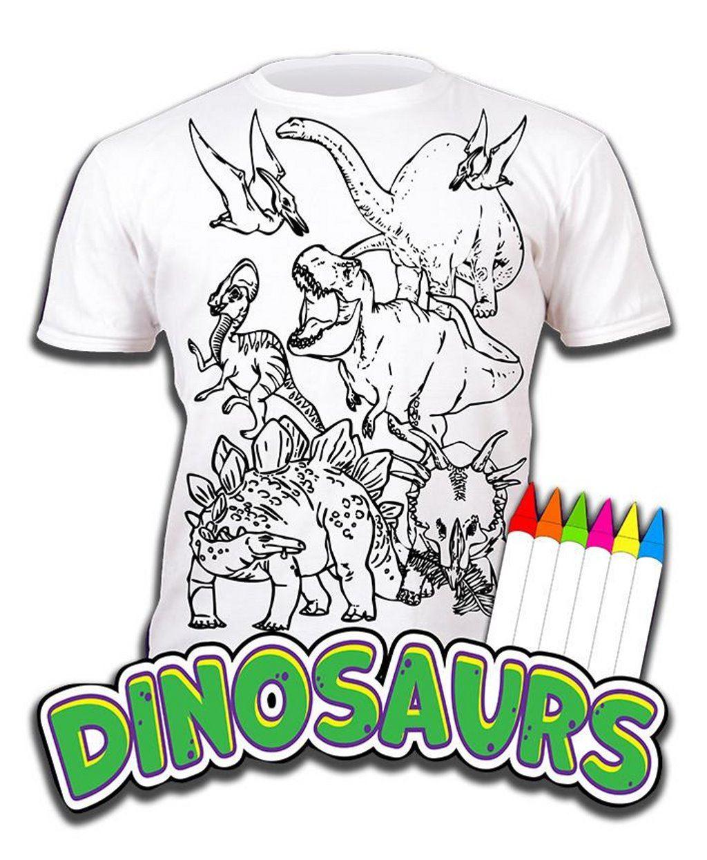 Colour-your-own-t-shirt-unicorn-mermaid-dinosaur-novelty-gift thumbnail 3