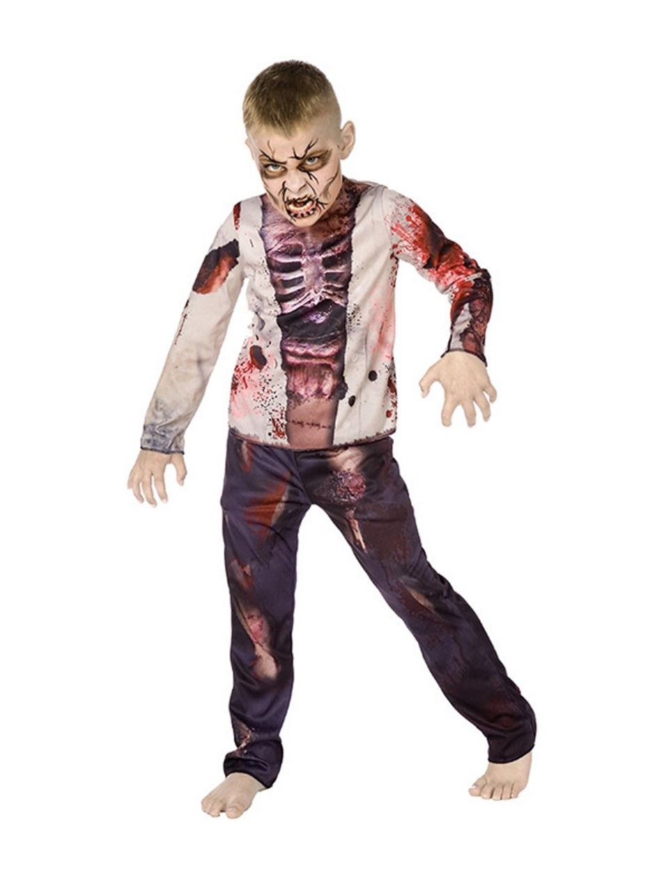 Halloween Costumes For Kids Scary.Details About Childrens Zombie Boy Halloween Costume Kids Scary Fancy Dress