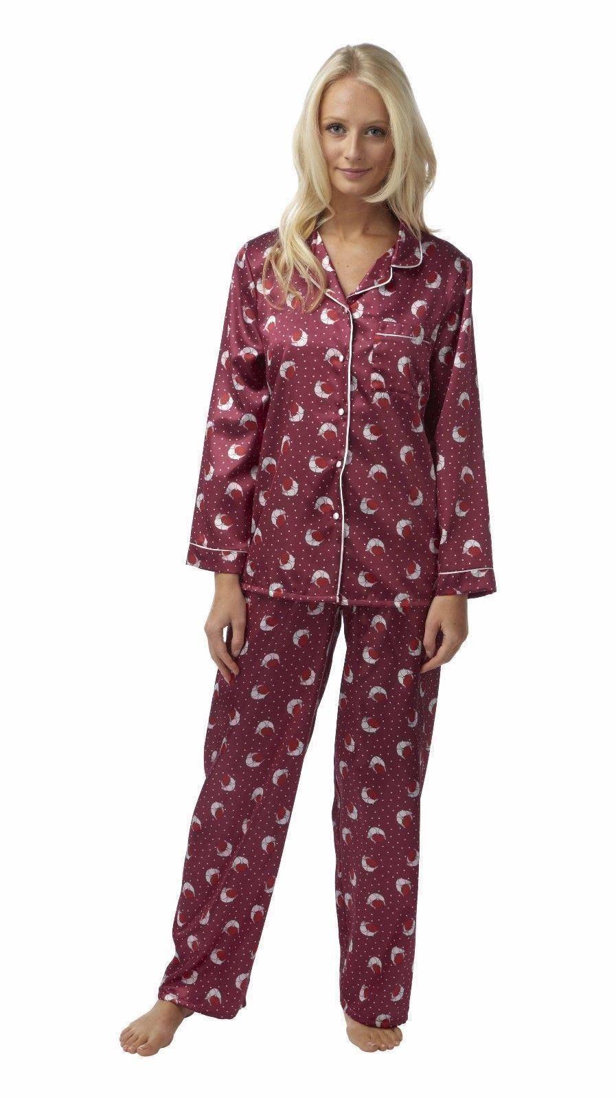 damen pyjama pyjama satin pyjama cuddleskin 42 44 46 48 50. Black Bedroom Furniture Sets. Home Design Ideas