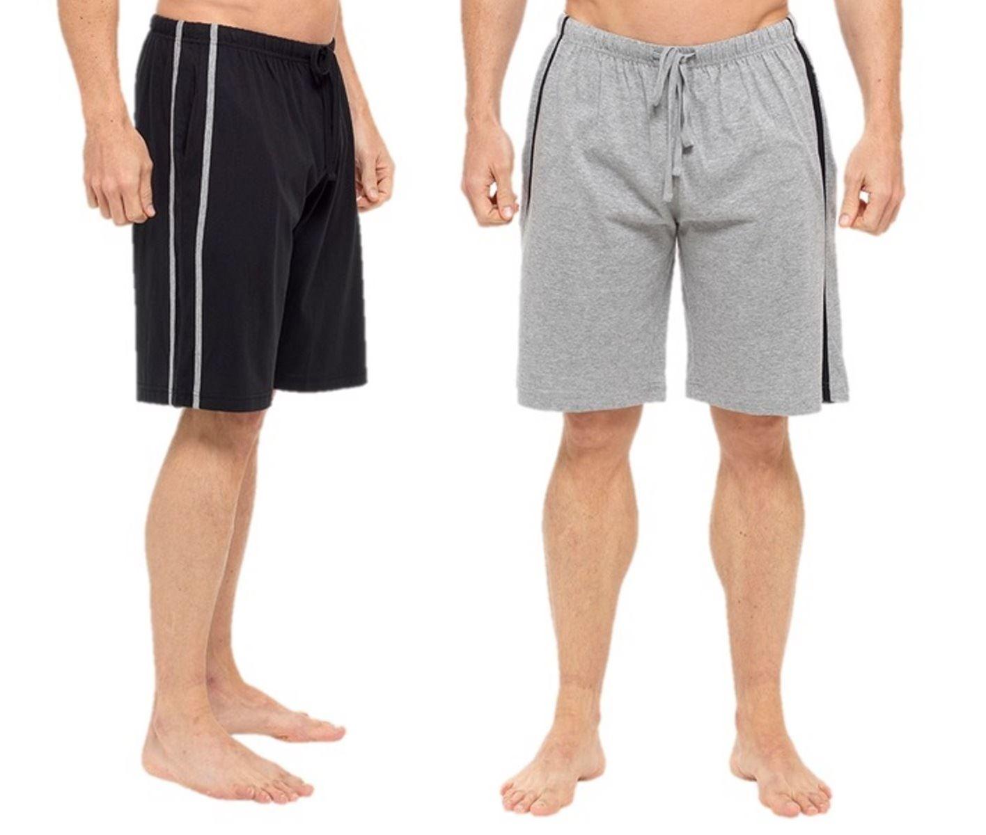 Da Uomo Lounge Pantaloni corti jersey cotone Lounge Wear Pigiama Pantaloncini