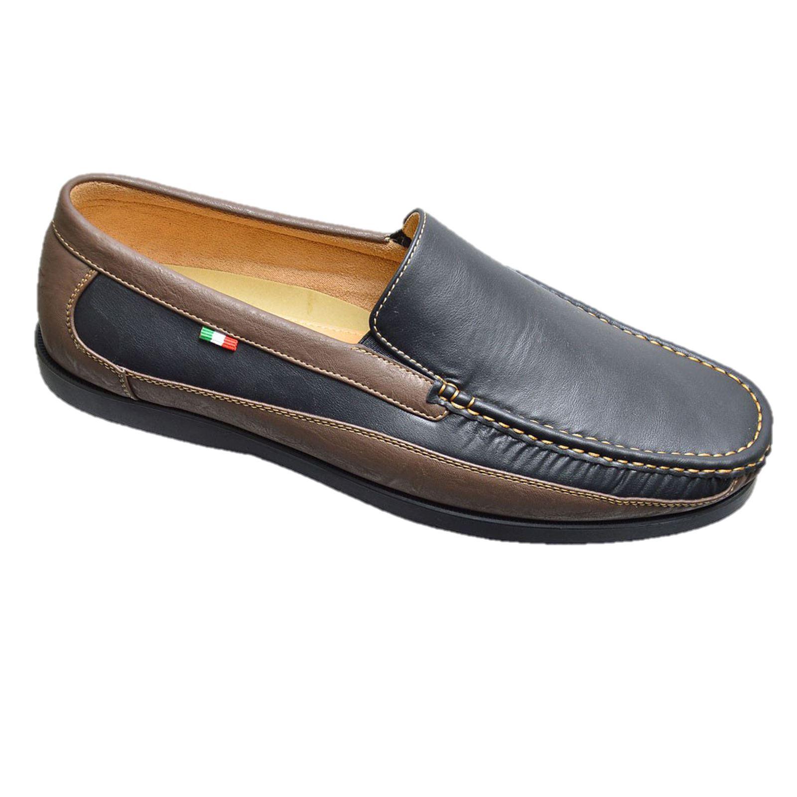 mens shoes slip on size 12 13 14 15 loafer moccasin ebay
