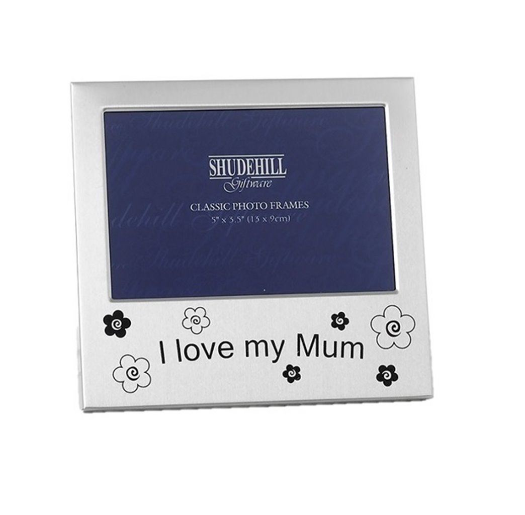 Love Mum Photo Picture Frame Birthday Christmas Parent Gift Mothers ...