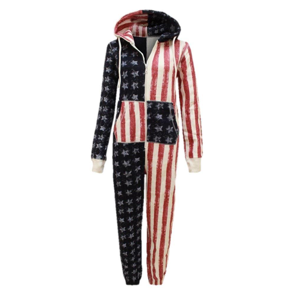 7a2139e77e23 Boys Girls USA Jumpsuit Pyjamas All In One Piece Pajamas Nightwear ...