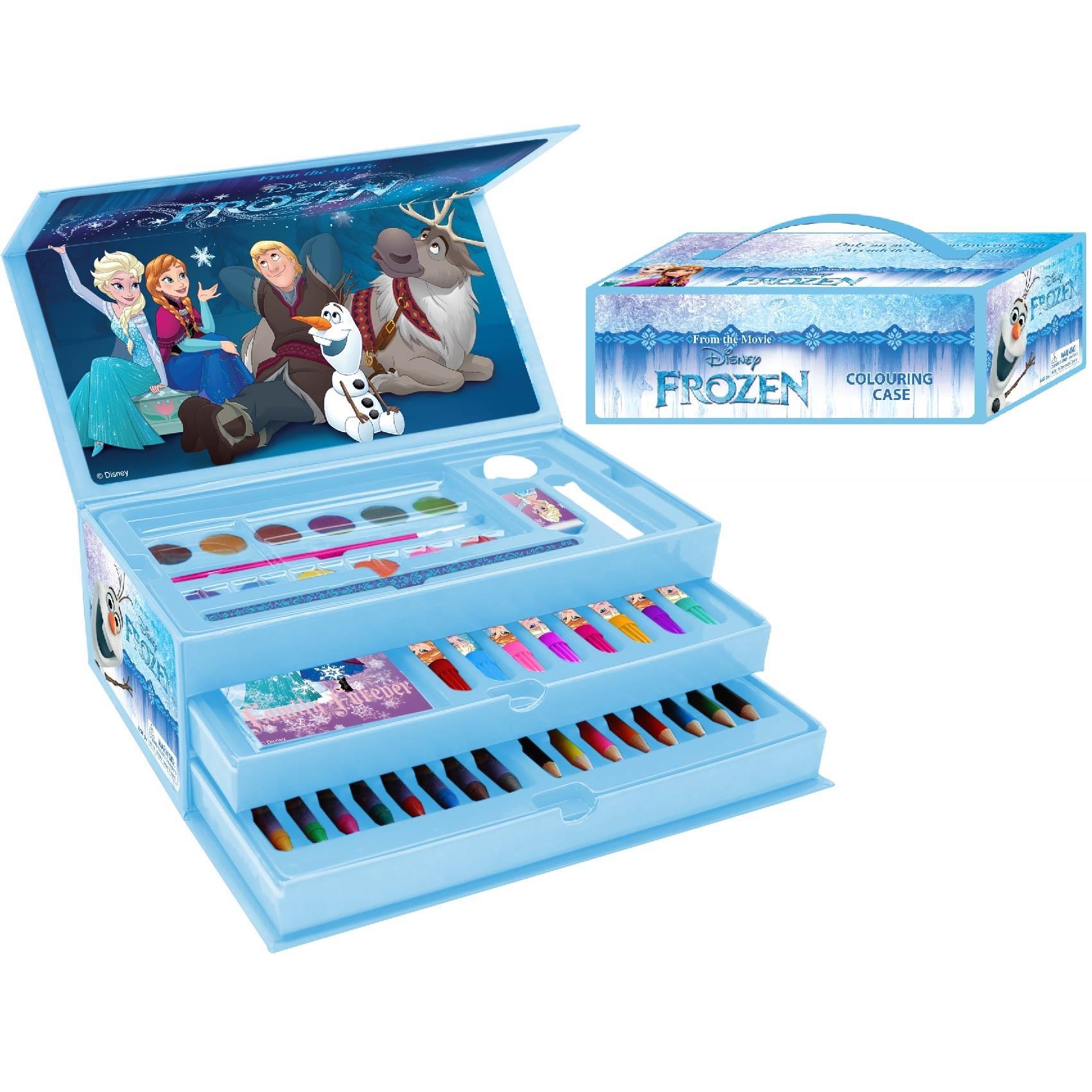 thumbnail 13 - Disney Frozen 2 Elsa Stationary Gift Set Case Chest Pencil Case Stocking Filler