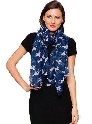 Horse Print Design Ladies Girls Scarf Scarves Shawl Wrap Maxi Sarong