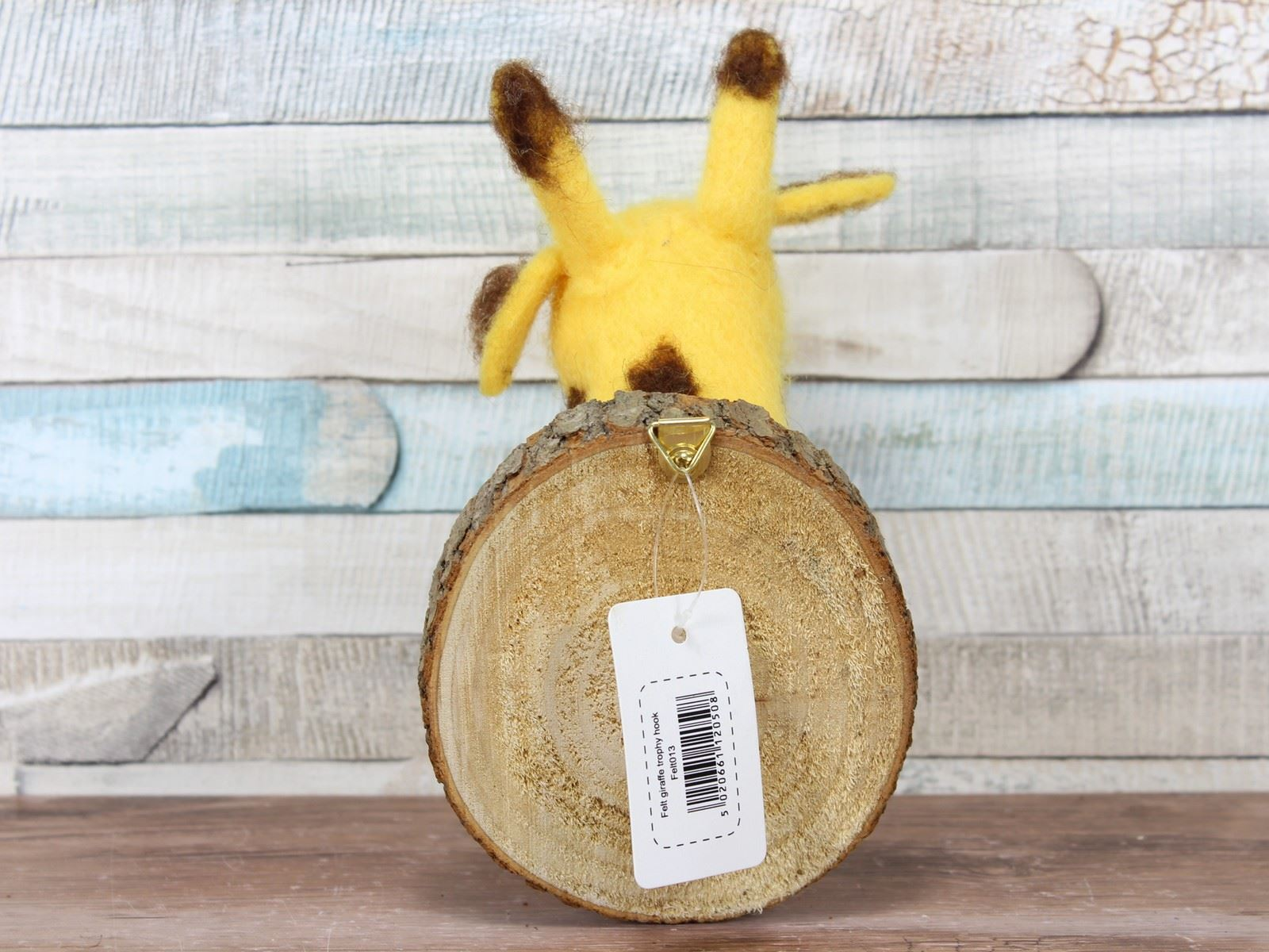 Giraffe Coat Hook Wall Hanger Gift Felt Trophy Animal Head Wood ...