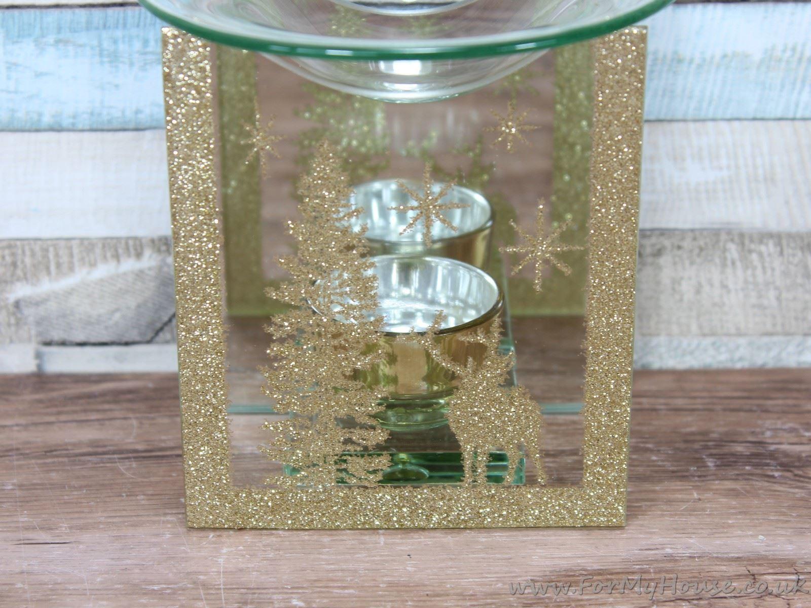 Winter Wonderland Gold Glitter Oil Warmer Burner Christmas