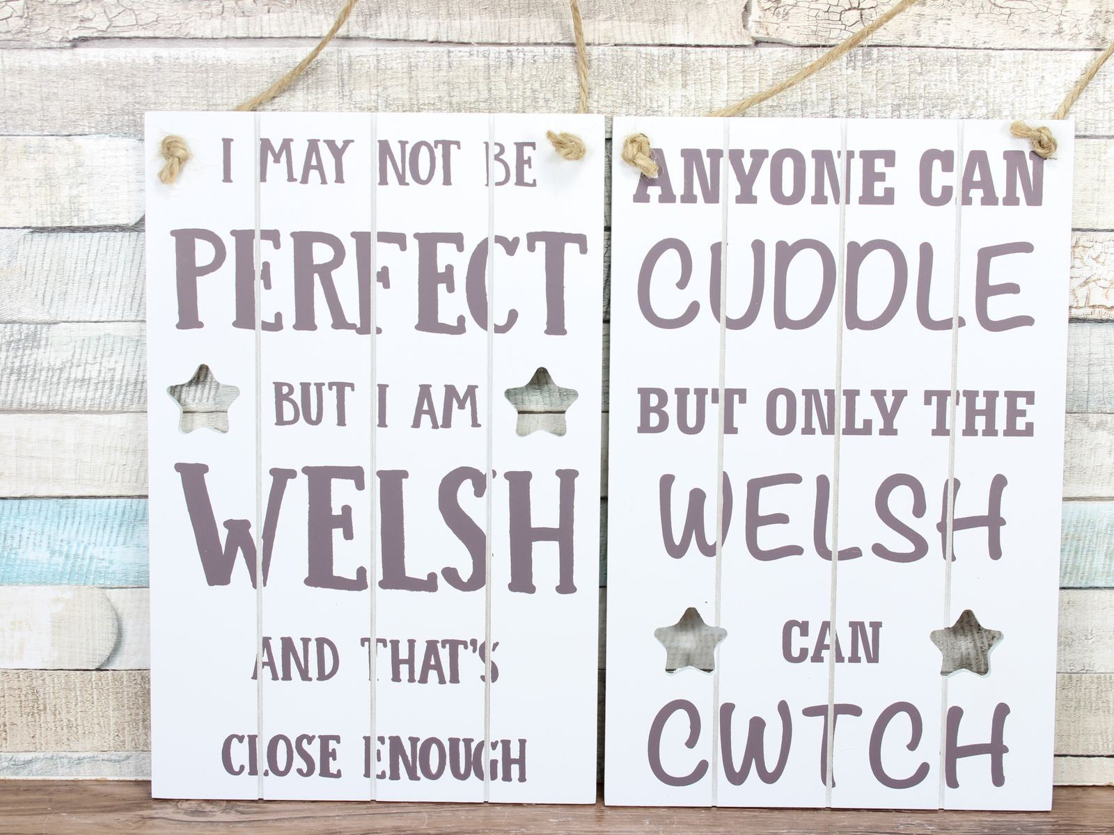 CWTCH Vintage Shabby Chic Wooden Sign Old Look Wales Welsh