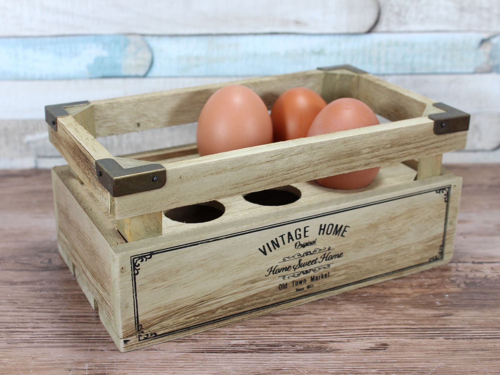 Vintage Home Wooden Egg Crate Holder Holds 6 Eggs 5010792277516 Ebay